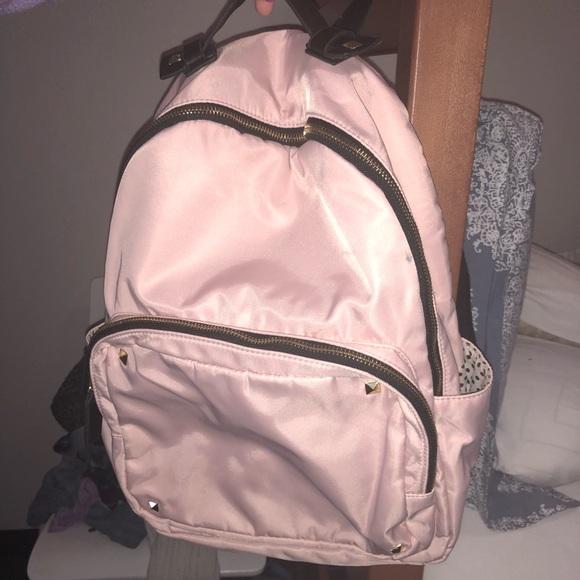 02afb44471 Madden Girl Handbags - Madden Girl Pink Backpack Studs Polka Dot